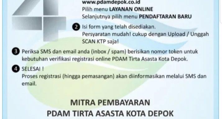 Registrasi Online PDAM Tirta Asasta Kota Depok