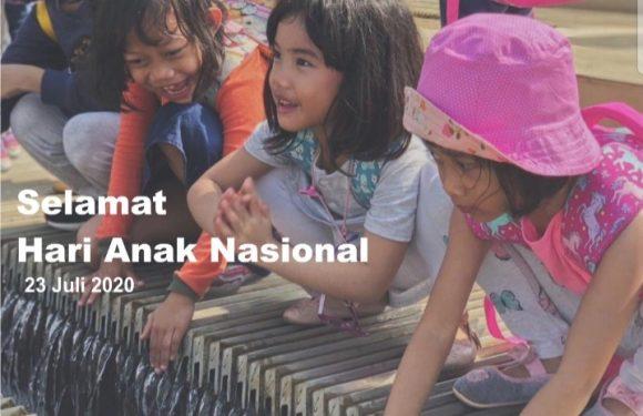 Memperingati Hari Anak Nasional adalah hari untuk mempersiapkan generasi penerus bangsa