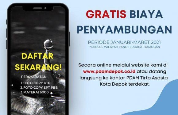 Pendaftaran dapat dilakukan secara online melalui website http://pdamdepok.co.id atau dengan langsung mendatangi kantor PDAM Tirta Asasta Kota Depok terdekat