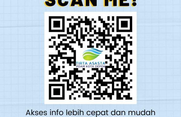Tirta asasta pdam kota depok akses info lebih cepat dan mudah hanya dengan scan barcode ini