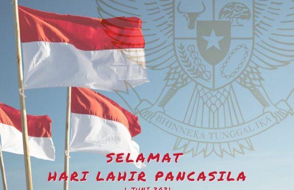 Selamat memperingati Hari Lahir Pancasila 1 Juni 2021.