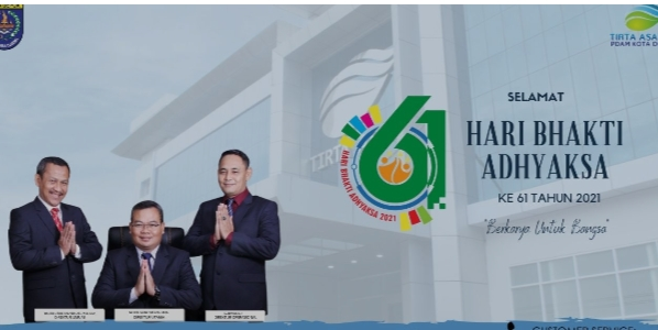 """PDAM Tirta Asasta Kota Depok mengucapkan  Selamat Hari Bhakti Adhyaksa Ke-61 """"Berkarya Untuk Bangsa"""""""